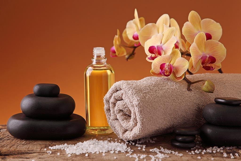 Aromaöl-Massage